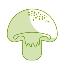 Silhouette delicious fresh mushroom organ food vector
