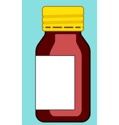 Small glass bottle vector image