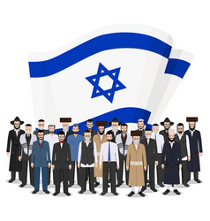 Social concept group adults and senior jewish vector