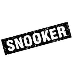 Square grunge black snooker stamp vector