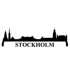 stockholm skyline vector image