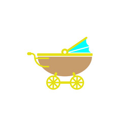 stroller icon design template isolated vector image