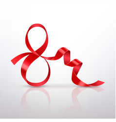 symbol march 8 of red satin ribbon vector image