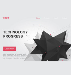technology science progress landing page vector image
