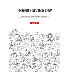 thanksgiving day with pumpkin for shopping sale vector image