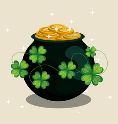 treasure coins saint patrick day vector image