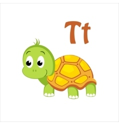 Turtle Funny Alphabet Animal vector