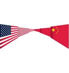 us china conflict abstract jigsaw concept vector image
