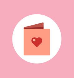 valentine greeting card icon sign symbol vector image