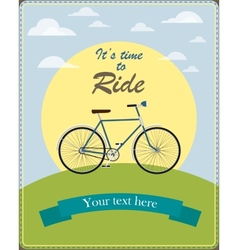 Vintage card a retro bicycle vector image