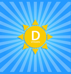 vitamin d sun sign icon vector image