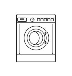 Washing machine icon outline style vector image