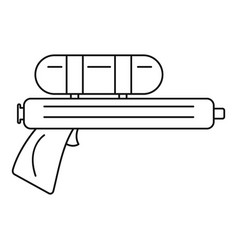 Water gun pistol icon outline style vector