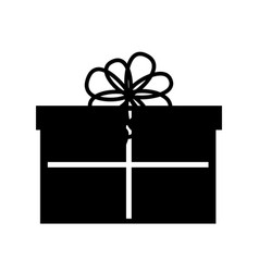 cute black icon christmas gift vector image vector image