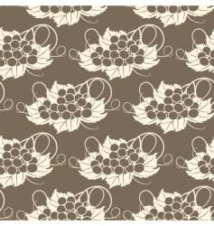 grapevine seamless pattern vector image vector image