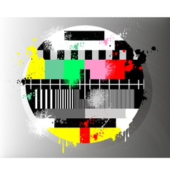 Grunge color test for television vector image