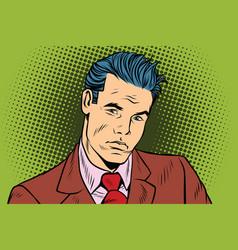 man businessman serious vector image
