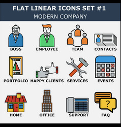 modern company icons vector image