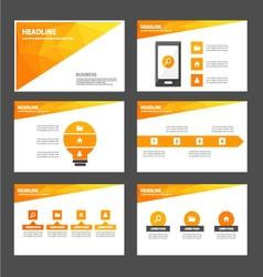 Orange Polygon presentation templates Infographic vector image vector image