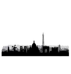 paris city skyline famous place cityscape vector image