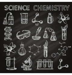 Science And Chemistry Icons Set vector image vector image