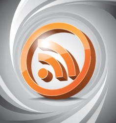 3D icon RSS vector image vector image