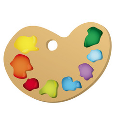 color paint palette icon vector image vector image