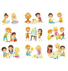 kids creativity set childrens creativity vector image