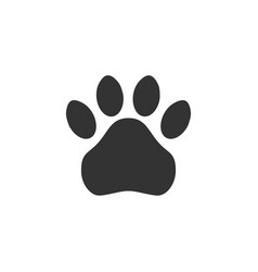 paw print simple monochrome pets footprint vector image