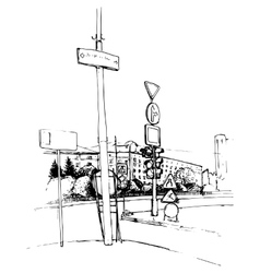 urban sketch vector image