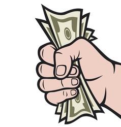 money in hand vector image