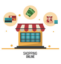 shopping online business vector image