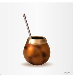 A calabash with a bombilla vector