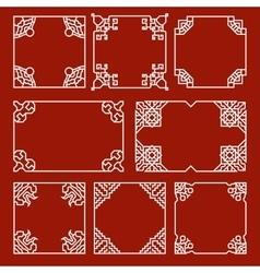 Chinese decorative frames and borders set vector image vector image