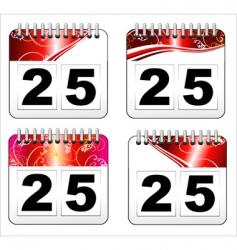 Christmas day calendar icon vector