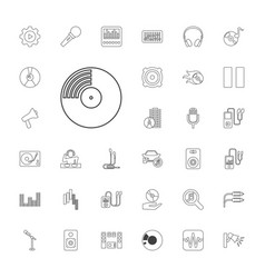 33 audio icons vector