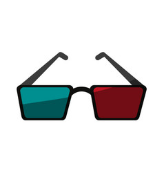 3d glasses icon image vector image