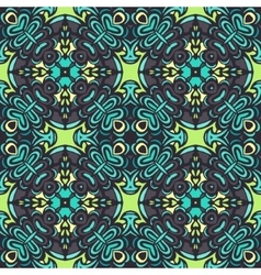 Abstract geometric tiles bohemian pattern vector