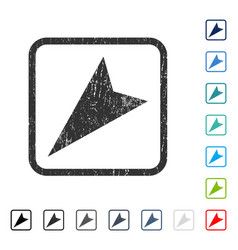 Arrowhead left-down icon rubber watermark vector