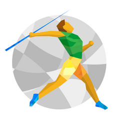 athlete throwing the javelin vector image