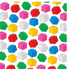 Background pattern with plastic building blocks vector