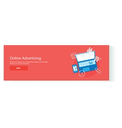 Banner online advertising vector image vector image