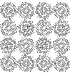 Black and white abstract flowers lace print vector