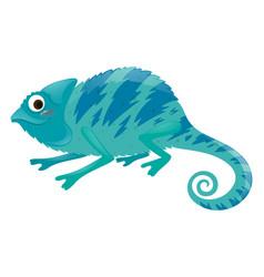 Blue iguana on white background vector