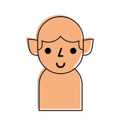 christmas elf avatar character vector image