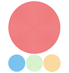 circle concentric spiral repetition vector image