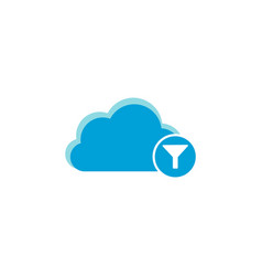 cloud computing icon filter icon vector image