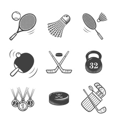 Collection of icons Sport equipment vector