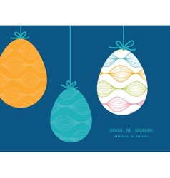 colorful horizontal ogee hanging Easter vector image