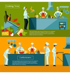 Cooking Banner Set vector image